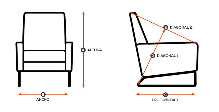Cómo tomar medidas de un sillón relax