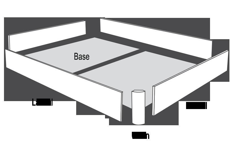 estructura base canape madera