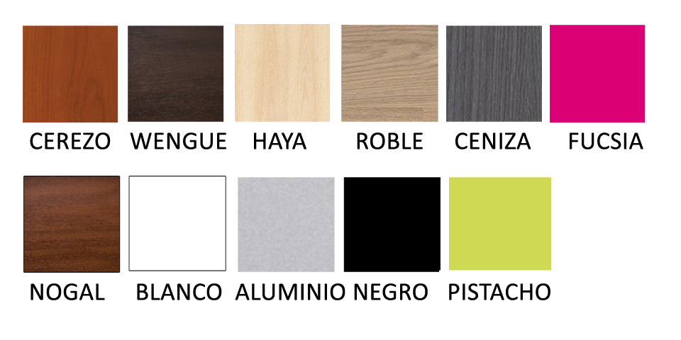colores disponibles canapé madera gemelar