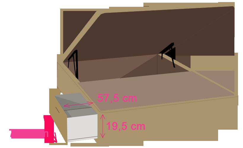 medidas canape tapizado caceres cajones